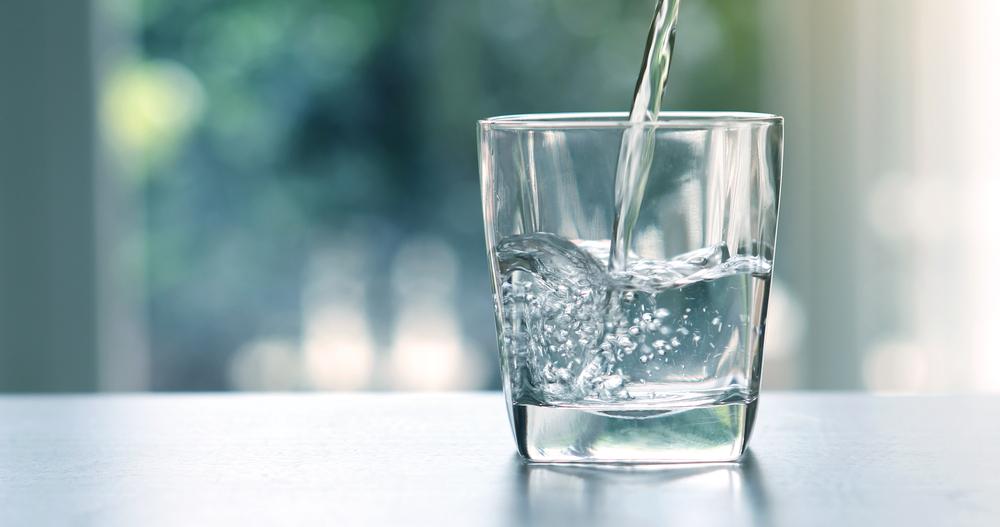 Glas helder en zacht water